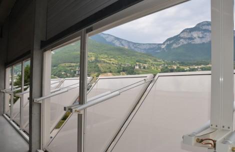 Chassis désenfumage naturel pneumatique Chambéry
